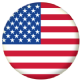 USA Country Flag 58mm Button Badge